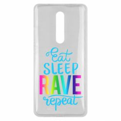 Чохол для Xiaomi Mi9T Eat, sleep, RAVE, repeat