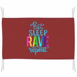 Прапор Eat, sleep, RAVE, repeat