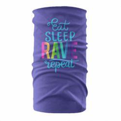 Бандана-труба Eat, sleep, RAVE, repeat