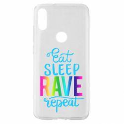 Чохол для Xiaomi Mi Play Eat, sleep, RAVE, repeat