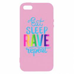 Чохол для iphone 5/5S/SE Eat, sleep, RAVE, repeat
