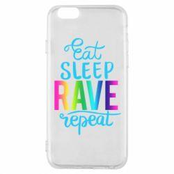 Чохол для iPhone 6/6S Eat, sleep, RAVE, repeat
