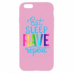 Чохол для iPhone 6 Plus/6S Plus Eat, sleep, RAVE, repeat