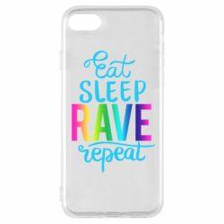 Чохол для iPhone 7 Eat, sleep, RAVE, repeat