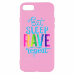 Чохол для iPhone 8 Eat, sleep, RAVE, repeat