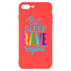 Чохол для iPhone 8 Plus Eat, sleep, RAVE, repeat