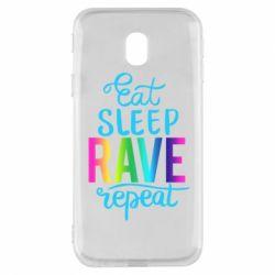 Чохол для Samsung J3 2017 Eat, sleep, RAVE, repeat