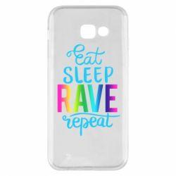 Чохол для Samsung A5 2017 Eat, sleep, RAVE, repeat