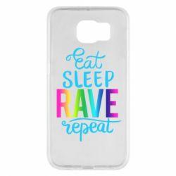 Чохол для Samsung S6 Eat, sleep, RAVE, repeat