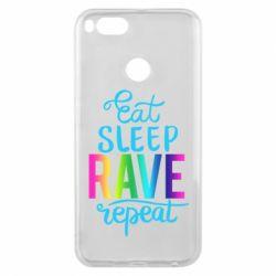Чохол для Xiaomi Mi A1 Eat, sleep, RAVE, repeat