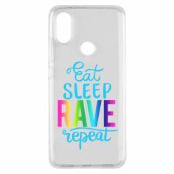 Чохол для Xiaomi Mi A2 Eat, sleep, RAVE, repeat