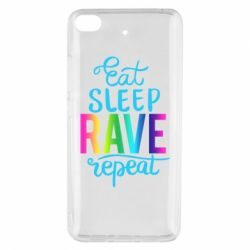 Чохол для Xiaomi Mi 5s Eat, sleep, RAVE, repeat