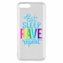 Чохол для Xiaomi Mi6 Eat, sleep, RAVE, repeat