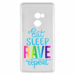 Чохол для Xiaomi Mi Mix 2 Eat, sleep, RAVE, repeat