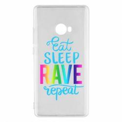 Чохол для Xiaomi Mi Note 2 Eat, sleep, RAVE, repeat