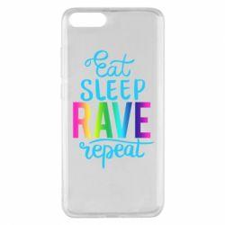 Чохол для Xiaomi Mi Note 3 Eat, sleep, RAVE, repeat