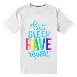 Чоловіча стрейчева футболка Eat, sleep, RAVE, repeat