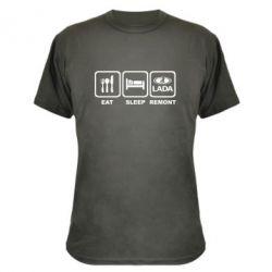 Камуфляжная футболка Eat, sleep, remont