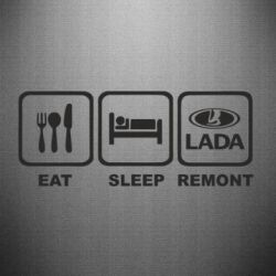 Наклейка Eat, sleep, remont