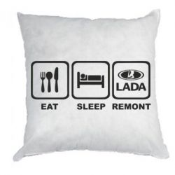 Подушка Eat, sleep, remont