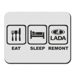 Коврик для мыши Eat, sleep, remont