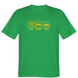 Мужская футболка Eat, sleep, ride - FatLine