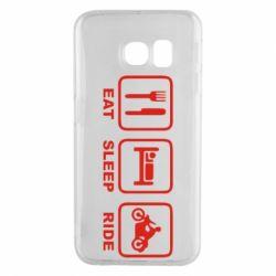 Чохол для Samsung S6 EDGE Eat, sleep, ride