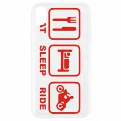Чохол для iPhone XR Eat, sleep, ride