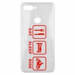 Чохол для Xiaomi Mi8 Lite Eat, sleep, ride