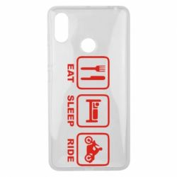 Чехол для Xiaomi Mi Max 3 Eat, sleep, ride