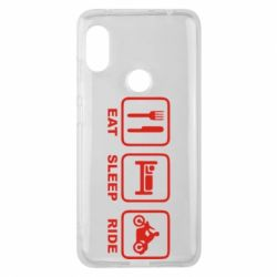 Чехол для Xiaomi Redmi Note 6 Pro Eat, sleep, ride