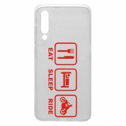 Чехол для Xiaomi Mi9 Eat, sleep, ride