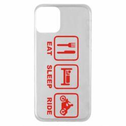 Чохол для iPhone 11 Eat, sleep, ride