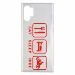 Чохол для Samsung Note 10 Plus Eat, sleep, ride