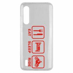 Чехол для Xiaomi Mi9 Lite Eat, sleep, ride