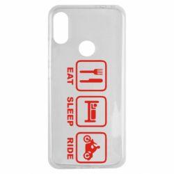 Чехол для Xiaomi Redmi Note 7 Eat, sleep, ride