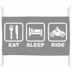 Прапор Eat, sleep, ride