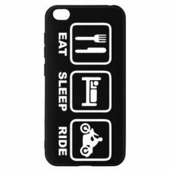 Чехол для Xiaomi Redmi Go Eat, sleep, ride