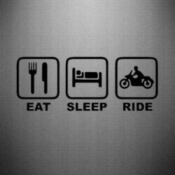 Наклейка Eat, sleep, ride - FatLine