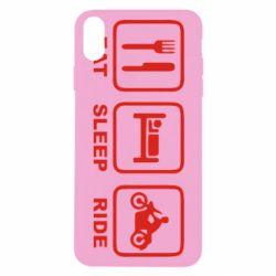 Чохол для iPhone X/Xs Eat, sleep, ride