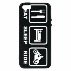 Чохол для iphone 5/5S/SE Eat, sleep, ride