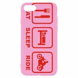 Чохол для iPhone 7 Eat, sleep, ride