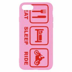 Чохол для iPhone 8 Eat, sleep, ride