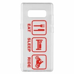 Чохол для Samsung Note 8 Eat, sleep, ride