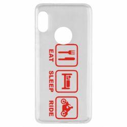 Чехол для Xiaomi Redmi Note 5 Eat, sleep, ride