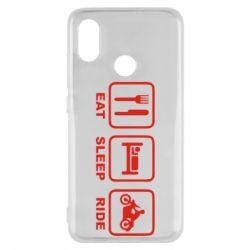 Чехол для Xiaomi Mi8 Eat, sleep, ride