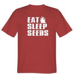 Мужская футболка Eat Sleep Seeds (pirat bay) - FatLine