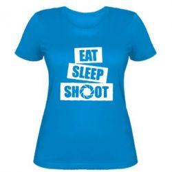 Женская футболка Eat, sleep, shoot