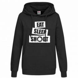 Женская толстовка Eat, sleep, shoot