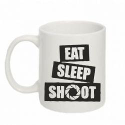 Кружка 320ml Eat, sleep, shoot